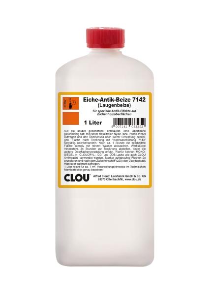 Eiche-Antik-Beize 7142 + Nachwaschlösung 7143